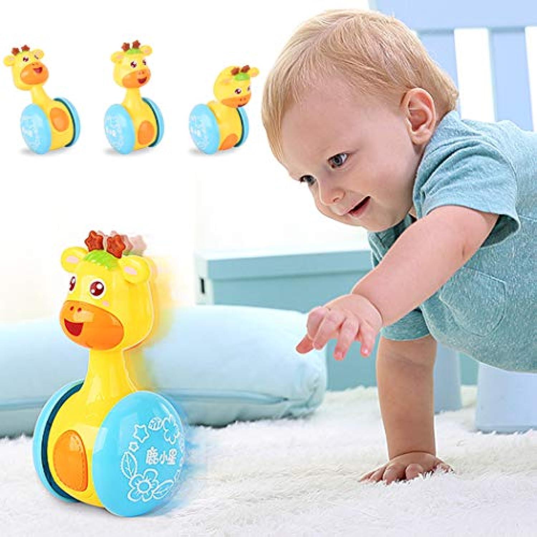 Bifast ベビー 早期教育玩具 可愛いマルチカラーアニメ動物タンブラー おもちゃ