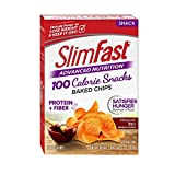 Slim Fast Advanced Potato Baked Crisps Snacks, Mesquite BBQ, 5 Count by Slim-Fast