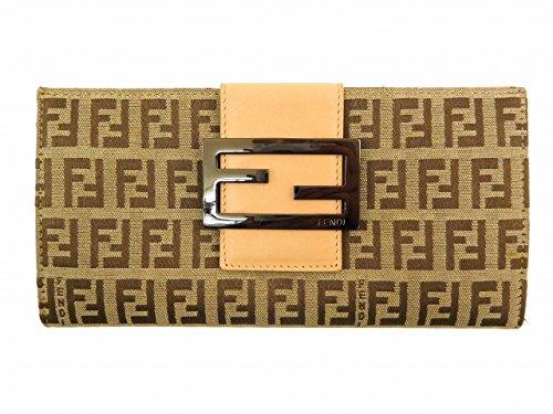[フェンディ] FENDI 長財布 ズッキーノ キャンバス×レザー X14399 中古