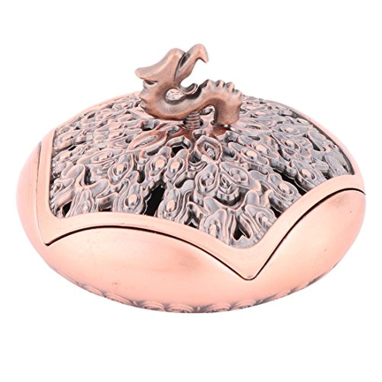 uxcell 線香立て 横置き おしゃれ 香料貯蔵ツール 合金製 香箱アクセサリー 幸運 香箱ホルダーアクセサリー 寝室用 外径9.6cm シャンペン色