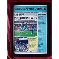 アーセナル0West Ham United 2–2015–額入りプリント