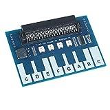 BBC Micro:BitアクセサリーミニピアノモジュールBBC Micro Bitボード、音楽を再生するタッチキー、Micro Bitエッジコネクタ直接プラグイン可能なRGB LED、音楽を再生するブザー
