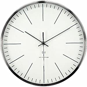 アイリスプラザ デザイン 掛け時計 電波時計 アルミ シンプル 28cm OTI-07