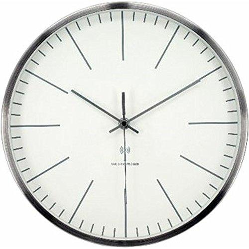アイリスプラザ デザイン 掛け時計 電波時計 アルミ シンプ...