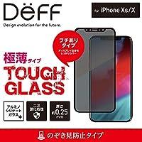 Deff(ディーフ) TOUGH GLASS for iPhone XS タフガラス iPhone XS 2018 用 フチあり 二次硬化ガラス使用 ディスプレイ保護ガラス (のぞき見防止)