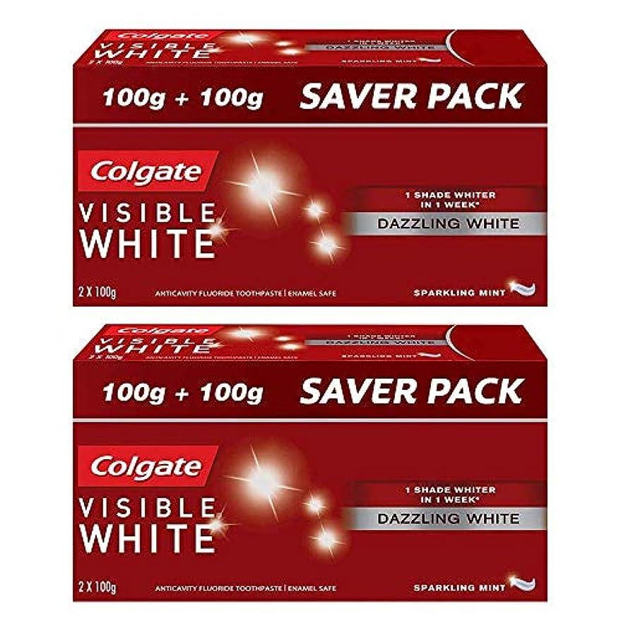現代の社会科チャートColgate Visible White Dazzling White Toothpaste, Sparkling Mint - 200gm (Pack of 2)