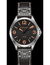[ハミルトン]HAMILTON 腕時計 Khaki Aviation Air Race 38mm (チームハミルトンモデル) ブラックダイヤル&ブラックストラップモデル・H76235731 〔正規輸入品〕