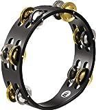 MEINL Percussion マイネル タンバリン Compact Wood Tambourine Nickel Plated Steel/Solid Brass Jingles 2rows CTA2M-BK 【国内正規品】