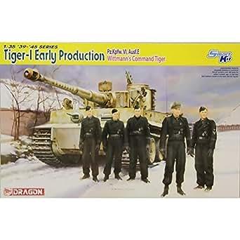 プラッツ 1/35 第二次世界大戦 ドイツ軍 ティーガーI 初期生産型 ミハエル・ヴィットマン プラモデル