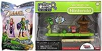 Ayb Buddies Micro LandデラックスパックSmall World Playset Outset島& Zelda BlindバッグMystery Character Dangler