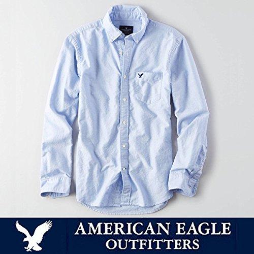 アメリカンイーグル メンズ 長袖シャツ オックスフォード American Eagle AE SHIRT ae1787 ブルー [並行輸入品]