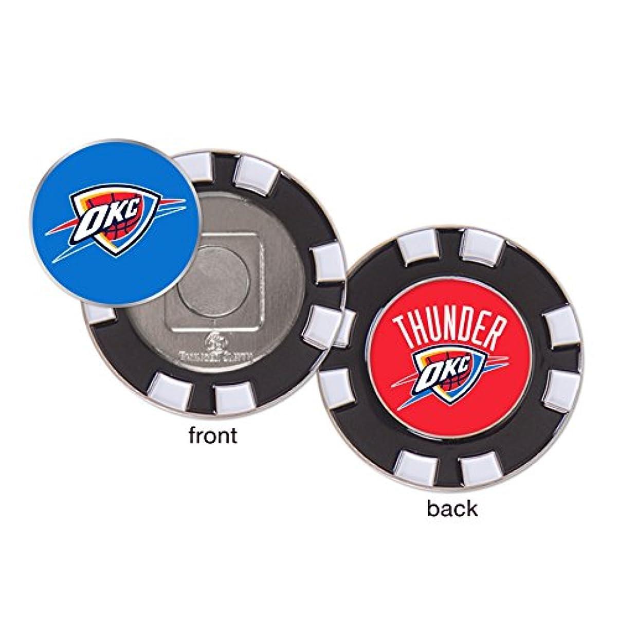 硬いセンター実行Oklahoma City Thunder OKC NBA Poker Chip Golf Ball Marker