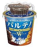 [冷蔵] 森永乳業 パルテノ 3倍濃縮 ギリシャヨーグルト Wソース チョコ風ソース&オレンジソース 80g