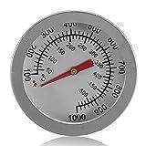 """耐熱皿f/c 2 """"ステンレス鋼バーベキュー喫煙ピット グリル バイメタル温度計温度計デュアル ゲージ 500度調理ツール"""