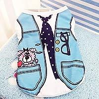 ベストネクタイ、S:ペット犬はヨーキー、チワワのためのベスト小型犬の綿の夏のかわいい小Dogie子犬猫の子猫コスチューム服服服