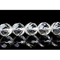 【福縁閣】水晶64面カット 10mm 1連(約38cm)Rock crystal_R351 天然石 パワーストーン ビーズ
