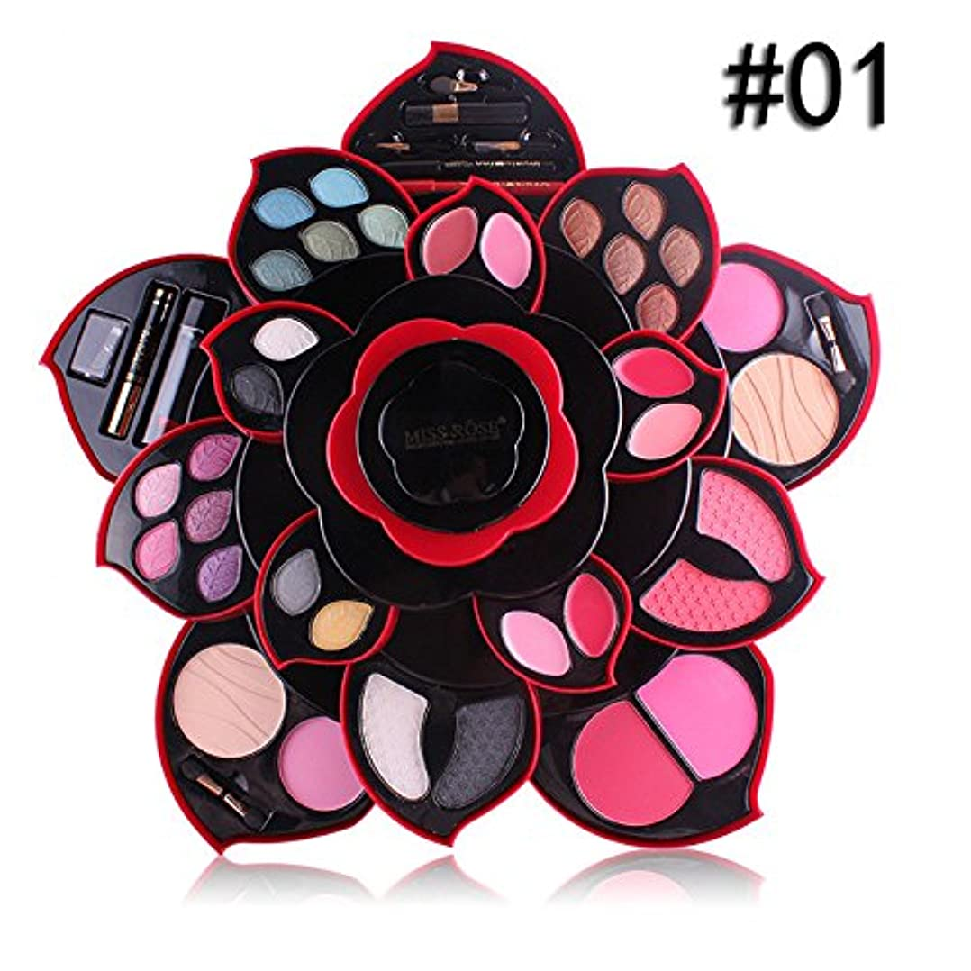 無能ショップシリアルビューティー アイシャドー wwkeiying アイシャドウセット ファッション 23色 梅の花デザイン メイクボックス 回転多機能化粧品 プロ化粧師 メイクの達人 プレゼント (A) (A)