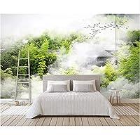 Wuyyii 壁画壁紙クラウド竹林家さわやかな風景テレビの背景壁家の装飾壁画3 D壁紙