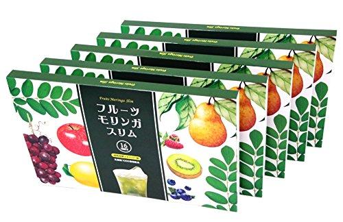 モリンガ 青汁 フルーツ ダイエット スーパーフード スリム ビューティー ボディ メイク (5箱/3g×30包×5+シェーカー)
