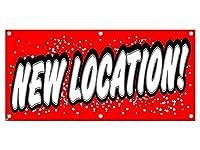 新しい場所 - 小売店のビジネスサインバナー