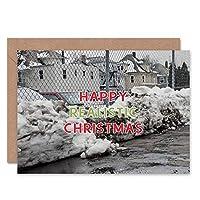 CARD ALTERNATIVE CHRISTMAS XMAS DULL REALISTIC WINTER FUNNY ネイティブキリスト冬面白い
