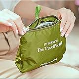 【ノーブランド 品】正方形 旅行 折り畳み式 超軽量 バックパック 防水 スポーツバッグ アクセサリー 贈り物 全2色 - グリーン