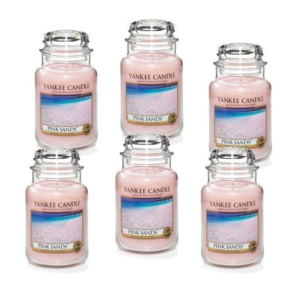 パット普通に伝統的Yankee Candle Company 22-Ounce Pink Sands Jar Candle, Large, Set of 6 by Amazon source [並行輸入品]