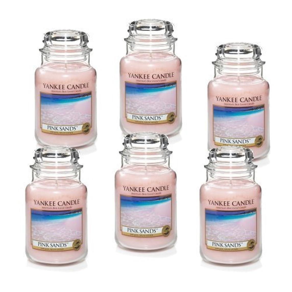詐欺師詩人かび臭いYankee Candle Company 22-Ounce Pink Sands Jar Candle, Large, Set of 6 by Amazon source [並行輸入品]