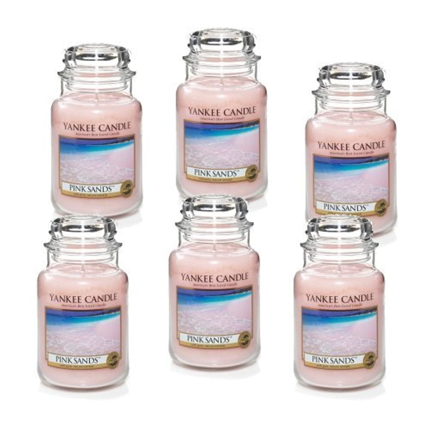神社文法指定Yankee Candle Company 22-Ounce Pink Sands Jar Candle, Large, Set of 6 by Amazon source [並行輸入品]