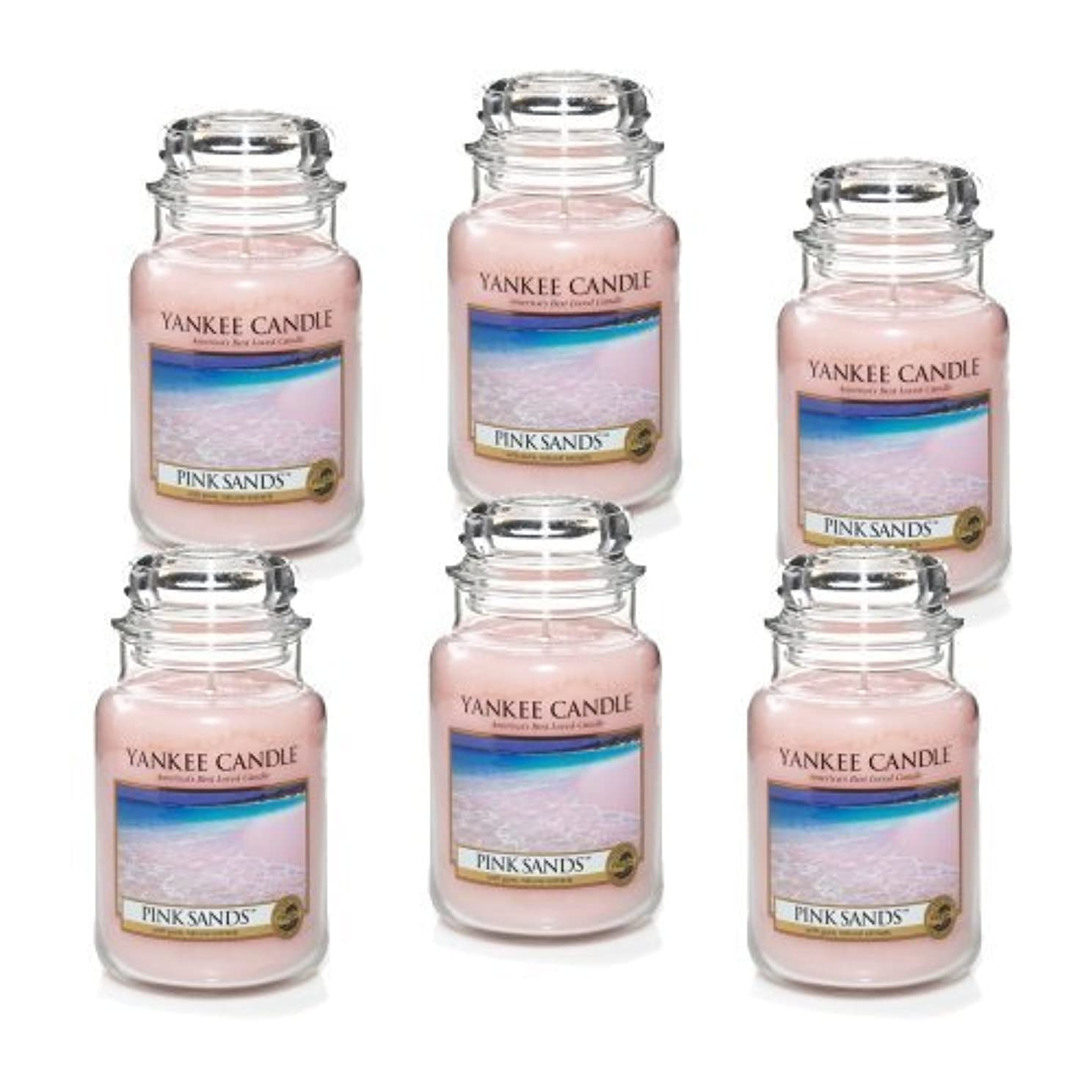 欲しいです考古学者バンクYankee Candle Company 22-Ounce Pink Sands Jar Candle, Large, Set of 6 by Amazon source [並行輸入品]