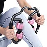 PRANCE マッサージローラー 筋肉ほぐし 筋膜リリース ストレス解消/疲労回復/脚やせさ/ツボ刺激/筋肉痛の改善 トリガーポイント ヨガポール フォームローラー (ピンク)