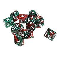 Fenteer 10個 アクリル 多面ダイス D10骰子 サイコロ テーブルゲーム DND RPG MTGゲーム用 全7スタイル - スタイル2