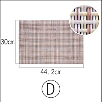 プレースマット、テーブルマット PVC 西洋食品マット断熱マット、家庭用ダイニングクロスパッド 45 * 30cm,D