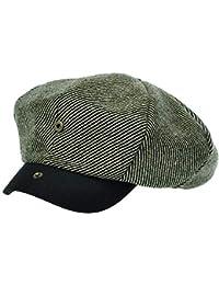 [PLIC N PLOC]EMN09.配色ウール混レトロメンズレディース ベレー帽 鳥打ち帽 ハンチングフラットキャップ