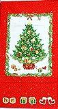 タペストリー クリスマスツリー 赤 1225   1枚