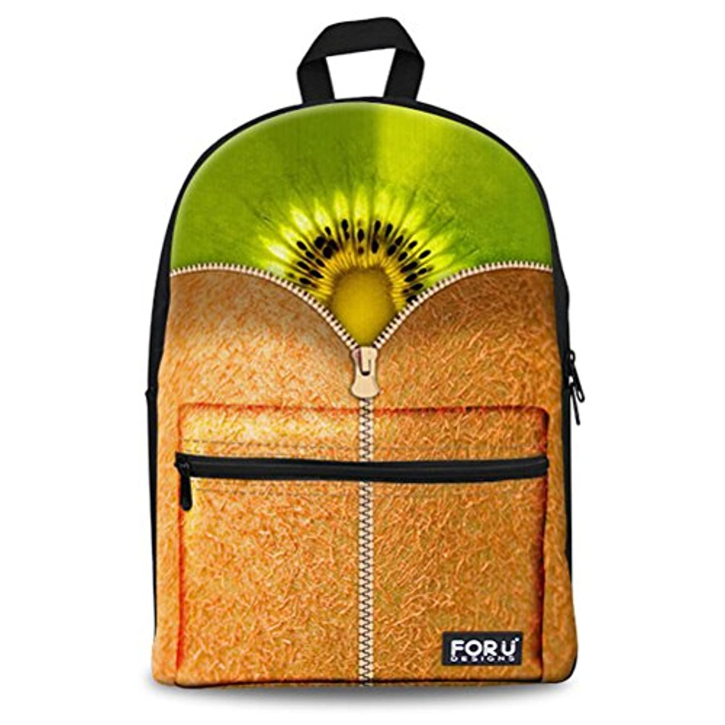 有彩色の黄ばむスプーンFOR U DESIGNS(JP) リュック 通学 通勤 果物柄