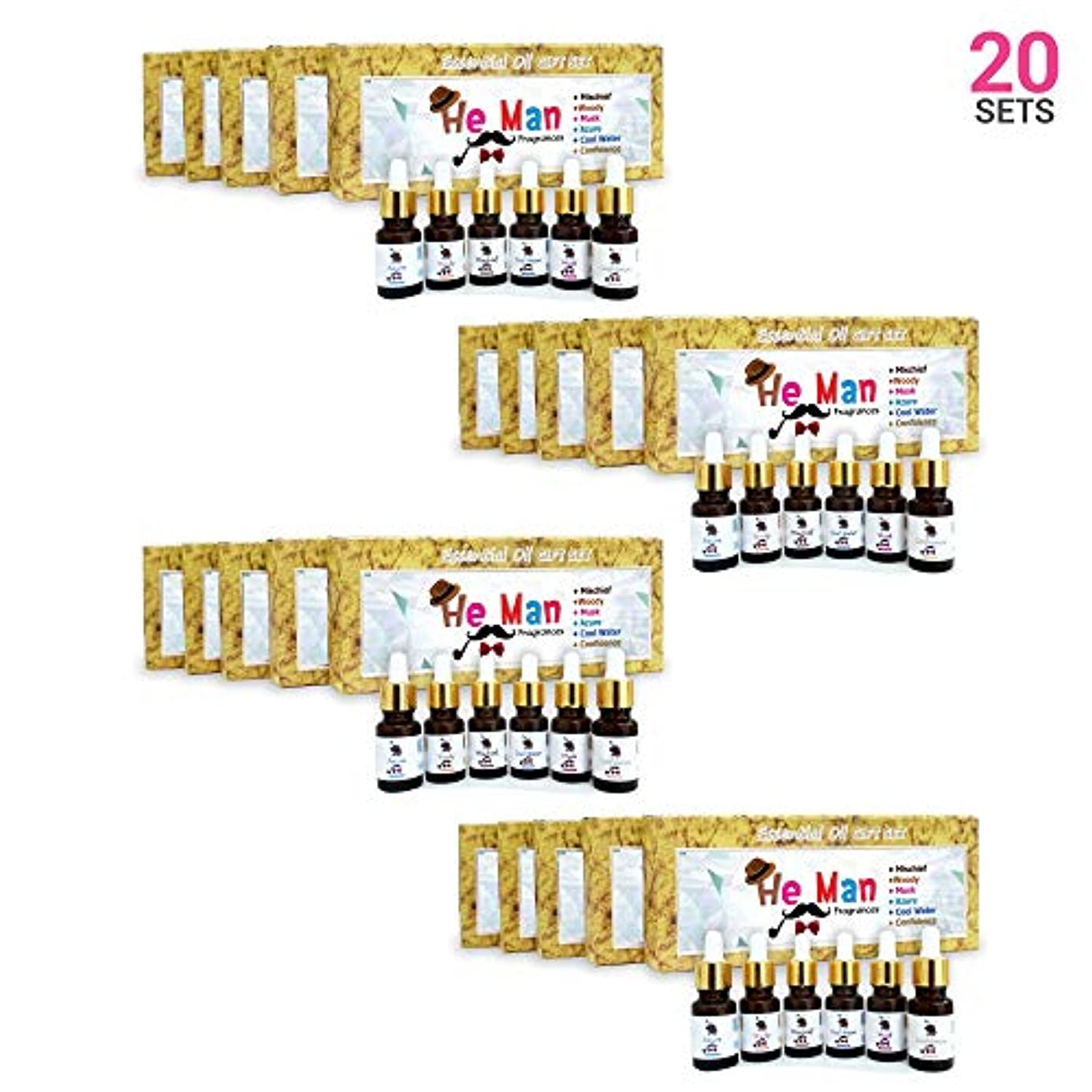 資源すずめ不健康Aromatherapy Fragrance Oils (Set of 20)- 100% Natural Therapeutic Essential Oils, 10ml each (Mischief, Woody, Musk, Azure, Cool water, Confidence) Express Shipping