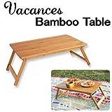 【SPICE】バカンスバンブーテーブル!天然素材で出来た竹のシンプルなローテーブル!屋外でも屋内でも。 折り畳めてコンパクトに