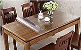 Ever Fairy テーブルクロス PVC製 テーブルマット デスクマット テーブルクロス 長方形 防水 撥水 耐久 汚れつきにくい 透明1.5mm/2mm