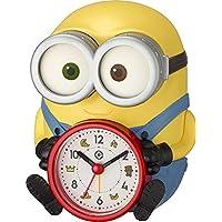 リズム時計工業(Rhythm) ミニオン/ボブ 置き時計 目覚まし時計 音声 アラーム イエロー 15.2x12.1x12.3cm 4REA30ME33