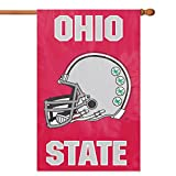 Party Animal, Inc. AFOSU Applique Banner Flag - Ohio State with helmet