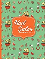 Nail Salon Appointment Book - Cute Bbq Cover: 2 Columns