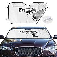 車用 サンシェード フロントガラス 日除け 車窓 Pulp Fiction パルプ・フィクション カーフロントカバー 吸盤取付 普通車/軽自動車/SUVに適用