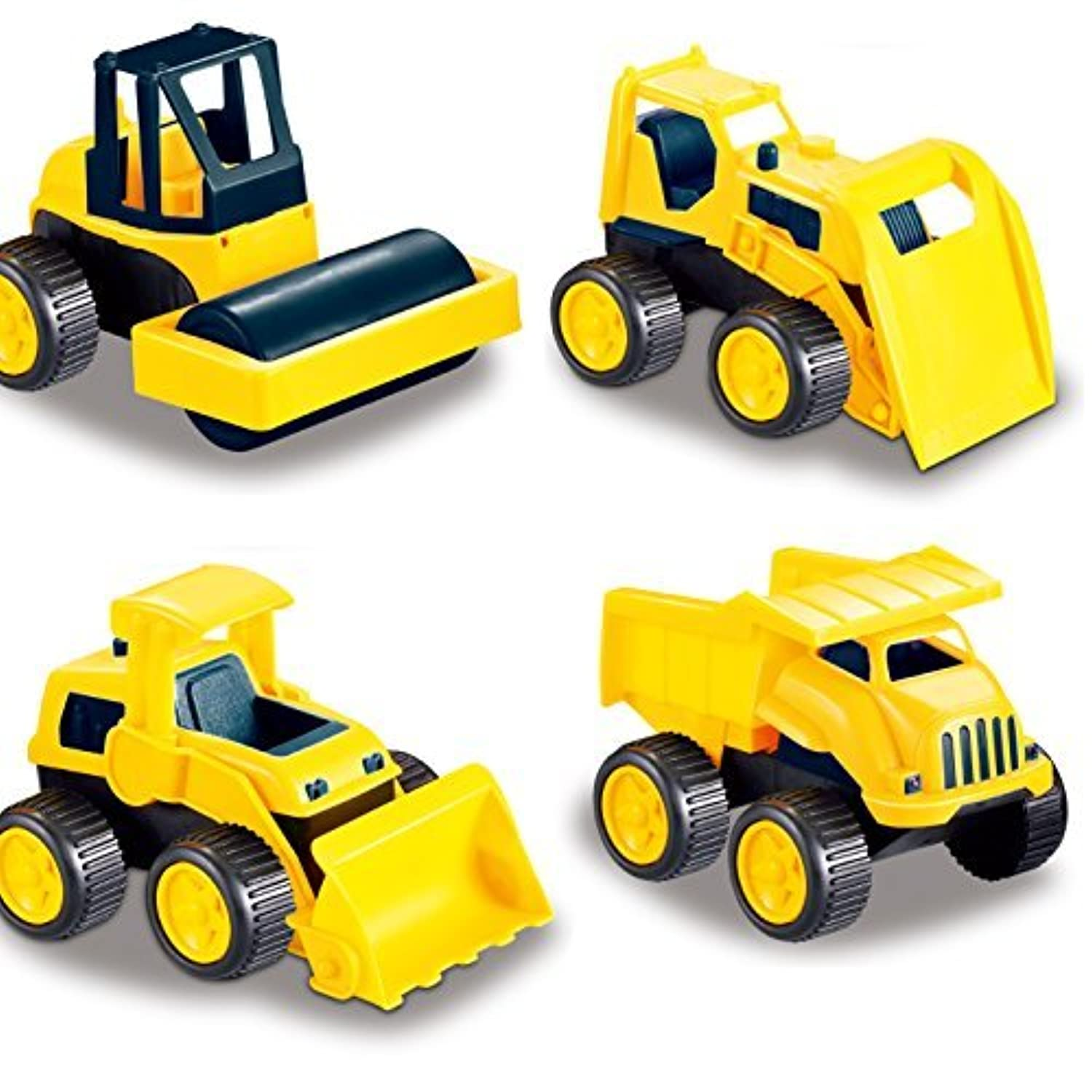Road Repair Construction Vehicles Set of 4 Trucks Include: A Dump Truck Front Wheel Tractor Asphalt Paver and Bulldozer [並行輸入品]