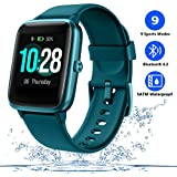 Men's Smart Watch Fitness Tracker for Women with Heart Rate Monitor Step Calorie Counter,Waterproof Sports Watch with Sleep Monitor Music Control,Activity Tracking Pedometer with Color Touch Screen