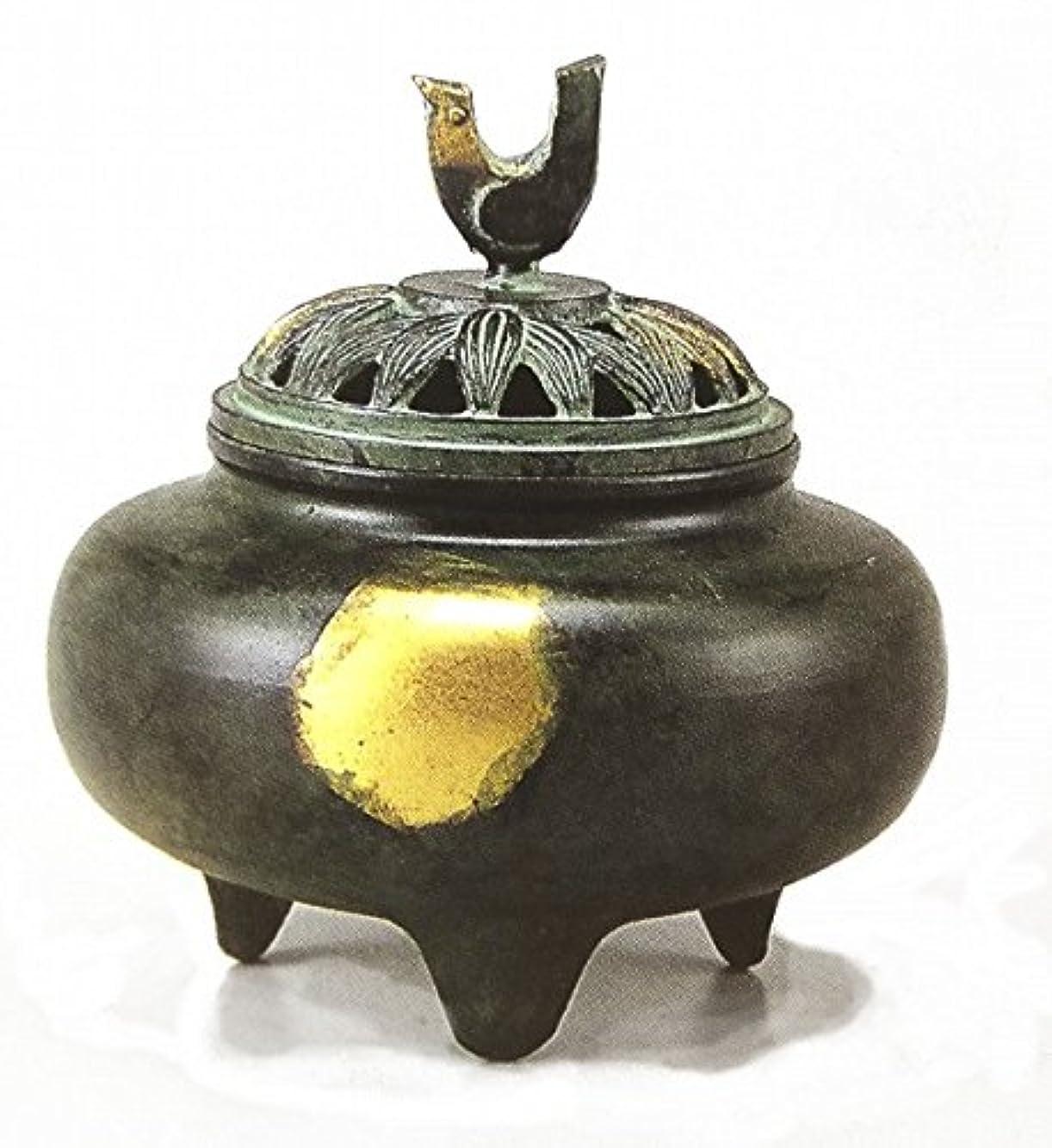 警報ファントム吸う『珠玉型香炉』銅製