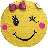 Emoticon with Pink Bow Pinata