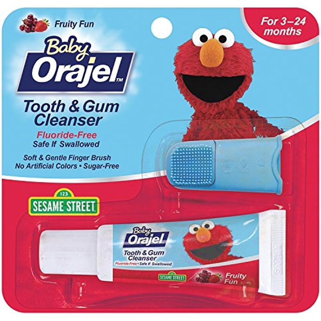セットアップスポーツ量で海外直送肘 Baby Orajel Tooth Gum Cleanser Mixed Fruit, Mixed Fruit 0.7 oz