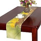 GGSXD テーブルランナー すばやい リス クロス 食卓カバー 麻綿製 欧米 おしゃれ 16 Inch X 72 Inch (40cm X 182cm) キッチン ダイニング ホーム デコレーション モダン リビング 洗える