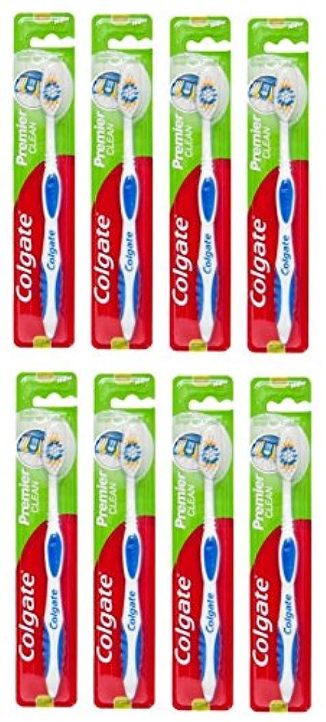 中央リテラシー練習したColgate Premier Clean コルゲート 歯ブラシ 8個 [並行輸入品]